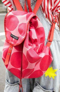 Pink polka-dot backpack, 2014 Fashion Polka Dot Backpack For Students, DIY Polka Dot Backpack For Students  www.loveitsomuch.com