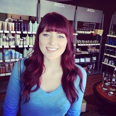 Red hair, blue eyes and milky skin!! Hair by Dominae #avedacolor #kalusalonandspa
