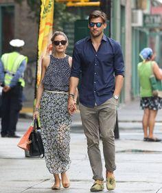 Olivia Palermo and Johannes Huebl, New York, September 12, 2013