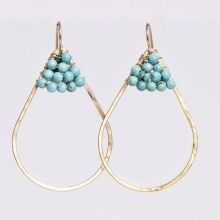 Wire Wrapped Turquoise Earrings www.jewelya.com