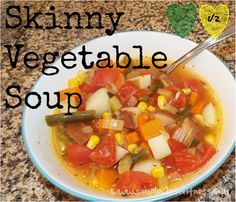 Skinny Vegetable Soup - 21 Day Fix Recipes - Clean Eating Recipes Healthy Recipes - Dinner - Lunch weight loss - 21 Day Fix Meals - www.simplecleanfitness.com