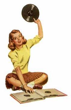 Vinyl is Forever Wild Things Lyrics, Vintage Music, Retro Vintage, Kitsch, Music Illustration, Vinyl Junkies, Record Art, Record Players, Vintage Vinyl Records
