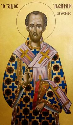 Saint John Chrysostom as a Model for our Lives Byzantine Icons, Byzantine Art, Christian Warrior, Christian Art, Religious Images, Religious Icons, Catholic Art, Catholic Saints, Mary Magdalene And Jesus
