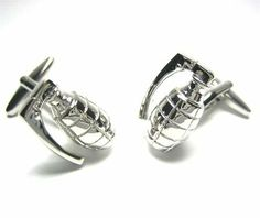 Silver Military Grenade Cufflinks CuffCrazy. $29.99. Money Back if not 100% Satisfied. Free Gift Box Included!. Silver Plated