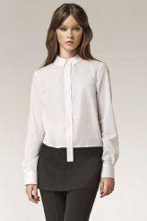 Klasyczna koszula o męskim kroju. Zawsze elegancka, zawsze na czasie. Połączenie dwóch kolorów sprawi - idealny sposób, żebyś pozostała zapamiętana ;)