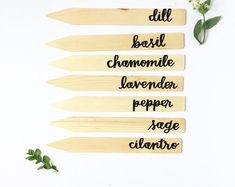Hand-lettered Garden Markers | Wooden Garden Stakes | Plant Tags | Garden Decor | Herb Markers | Vegetable Markers