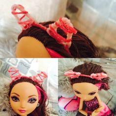 Ободок для куклы из скрепки, ниток и воображения!
