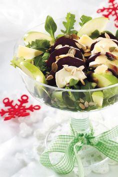 Punajuuri-vuohenjuustosalaatti | Kasvisruoat | Pirkka #food #christmas #joulu