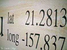 The Concrete Cottage: Latitude & Longitude Signs ~ Tutorial