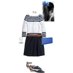 """Cobalt blue & navy"" by maomi on Polyvore"