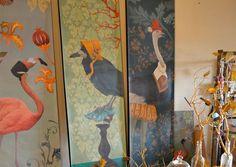 papier peint sandrine chambery corbeau noir décoration
