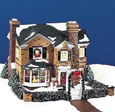 Snow Village Holly Lane