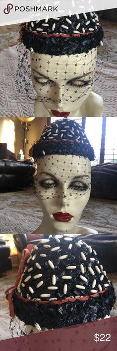 d9d139b56df Chanda Vintage Women s Cap Hat w Veil Chanda Vintage Women s Cap Hat w Veil