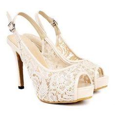 Lace Wedding Day heels #2