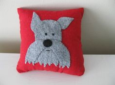 Mini Schnauzer mini pillow