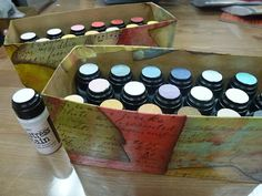 Recycled Distress Stain Storage