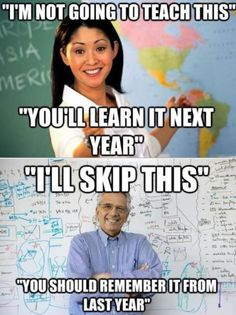 Every dang year of my entire school career!