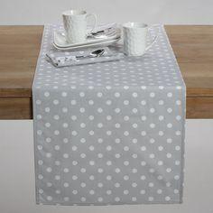 Caminho de mesa, estampado às bolas, garden party, algodão, La Redoute Interieurs | La Redoute