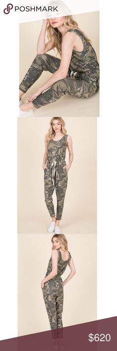 New with tag Unisex women/'s Men/'s Camouflage All In One Jumpsuit Small-XXXL