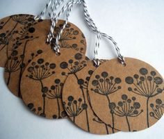 dandelion gift tags