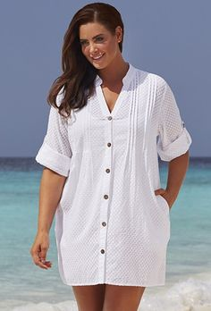 d118f35f3e5 White Swiss Dot Cover Up Swimsuit Cover Ups