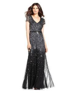 3c3f02941d5 Adrianna Papell - 62868950 V - neckline Sequined Mesh Long Dress   Formal  Evening Dress (