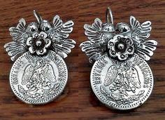 Frida style earrings Lovebirds with a flower in the by titarubli, $68.00