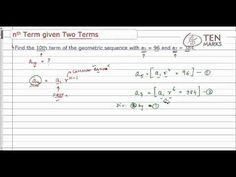Find the nth Term Given Two Terms