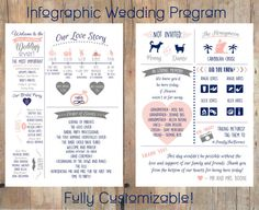 Hey, I found this really awesome Etsy listing at https://www.etsy.com/listing/473566037/infographic-wedding-program