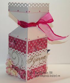 Mayas Hobbyblogg: DT InkyWings; Gaveboks med mal/Giftbox with template