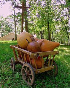 Antique Primitive Farm GOAT CART Hay Pumpkin Wooden Cart 1900s Wagon Yard Decor