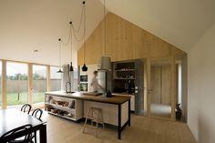 DomT House, DomT House by Martin Boles, Martin Boles, Architect Martin Boles, passive solar, barn-inspired house, natural light, high ceilings, spruce, siberian larch, slovakia, Stodola,