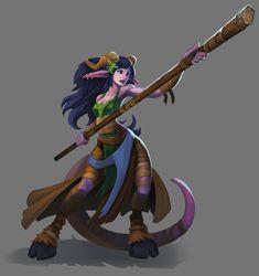 ArtStation - Fantasy fighter girl w/ staff, Ryan Monastyrski