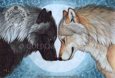 This is my 2013 annual piece for WOLF Sanctuary's Waltz For The Wolves. This year we honor Atlantis, a bright and beautiful wolf hybrid who has passed on, returned to the arms of Spirit. Anime Wolf, Wolf Tattoos, Wolf Mates, Wolf Wallpaper, Wolf Love, Wolf Pictures, Beautiful Wolves, Wolf Spirit, Moon Art