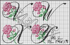 Charms in PUNTO CROCE: Rose Monogram