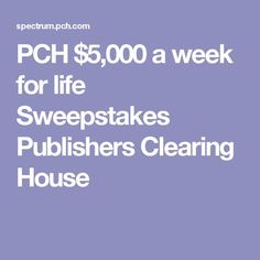 Pch drawing dates 2018