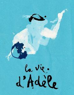 Conrad Roset - film poster based on Blue is the Warmest Colour (2013) dir. Abdellatif Kechiche.