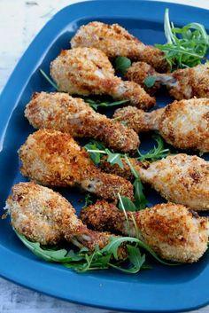 Ovnsbakte kyllingklubber, lett tilberedt og godt! For denne og andre gode oppskrifter besøk bloggen Mat på Bordet