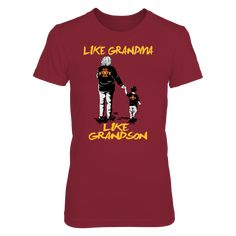 Iowa State Cyclones - Like Grandma Like Grandson T-Shirt, Iowa State Cyclones Official Apparel - this licensed gear is the perfect clothing for fans. Makes a fun gift!  The Iowa State Cyclones Collection, OFFICIAL MERCHANDISE  Available Products:          Gildan Women's T-Shirt - $26.95 Next Level Women's Premium Racerback Tank - $29.95 Gildan Unisex T-Shirt - $24.95 Gildan Unisex Pullover Hoodie - $44.95 Gildan Long-Sleeve T-Shirt - $33.95 Gildan Fleece Crew - $39.95 Pack of 4 stickers…