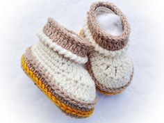 Ravelry: Lambeee Baby Boots Crochet Pattern 01 pattern by Maria Manuel