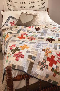 """Grab your precuts and get started! 2½""""-wide strips lessen the prep time for this throw quilt pattern. The colors and prints in this quilt are so much fun!"""