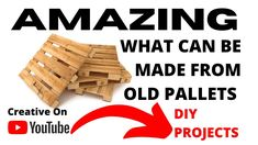 Creative Pallet Ideas , Amazing things to do with old Pallets DIY creative. If your looking for ideas of what you can make from an unused pallet or pallets.