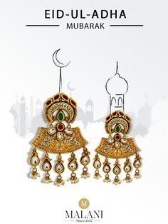 We, at wish you a year full of happiness and peace. Happy Eid Al Adha, Eid Mubarak, Happiness, Peace, Drop Earrings, Bonheur, Happy, Being Happy, Dangle Earrings