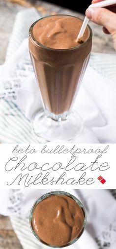 Paleo, Dairy Free & Keto Bulletproof Chocolate Milkshake #keto #ketobreakfast #lowcarb #paleo #healthyrecipes #milkshake