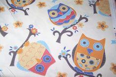 Deko Taschen Stoff Jill Öko-Tex Standard 100 Eule Blume Owls 1,40m breit bunt