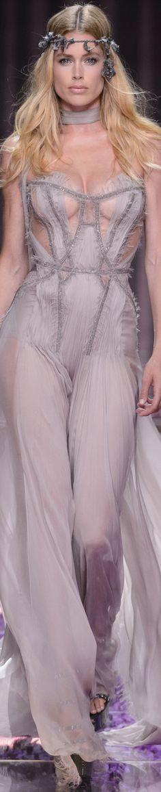 Atelier Versace ~ Couture Soft Lavender Chiffon Flowy Gown 2015