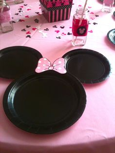 minnie mouse plate setting