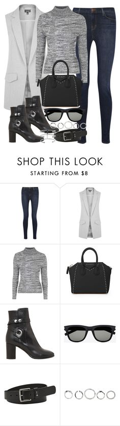 """""""Untitled #2827"""" by angieswardrobe ❤ liked on Polyvore featuring J Brand, Topshop, Givenchy, Isabel Marant, Yves Saint Laurent and FOSSIL"""