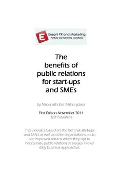 PR benefits for start-ups and SMEs ebook by Eric Mkhunjulwa, MD of Enzani PR and Marketing (#ePRM) Consultancy