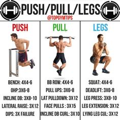 USH/PULL/LEGS️ By @topgymtips A push,pull, legs split is great for beginners, intermediates and advanced lifters, and is personally what